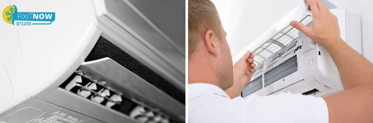 תיקון פילטר אוויר סתום במזגן אלקטרה