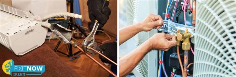 תיקון דליפת גז מהמזגן