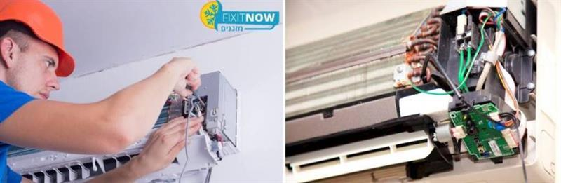 תיקון בעיית חשמל בקונטקטור מזגן